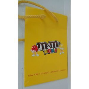 M&M's World character yellow tote bag